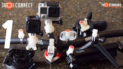 Attach Cleat Connectors and Tine Connectors to all your GoPro and third party mounts and accessories.
