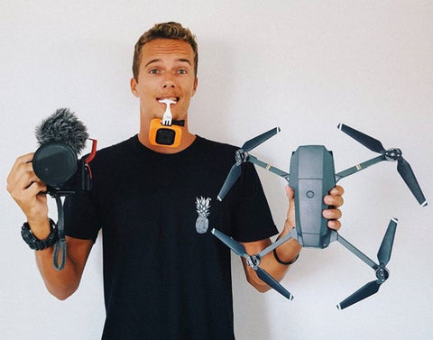 Kitesurfer Jake Jelsick uses the Pro Standard Grill Mount GoPro mouth mount to film his amazing kitesurfing POV footage.
