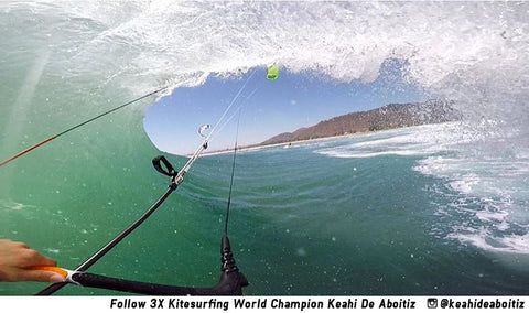 Keahi De Aboitiz uses the Pro Standard Grill Mount Mouth Mount for GoPro