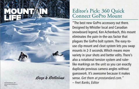 "360 Quick Connect Named ""Best New GoPro Accessory"" by Mountain Life Magazine"