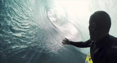 Ramon Navarro Legendary Chilean surfer uses the Pro Standard Grill Mount mouth mount for GoPro Cameras