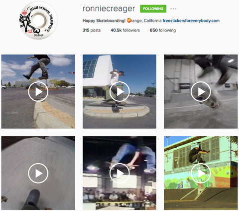 Ronnie Creager Pro Standard Grill Mount Skateboarding