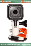 360 Quick Connect GoPro Cleat Connector for GoPro Cameras and 360 Quick Connect Camera Mount with a GoPro Hero 5 Session