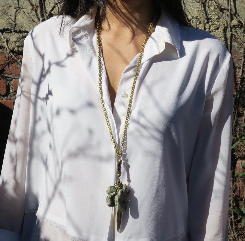 ~pop.up.shop~ zanzibar long agate necklace