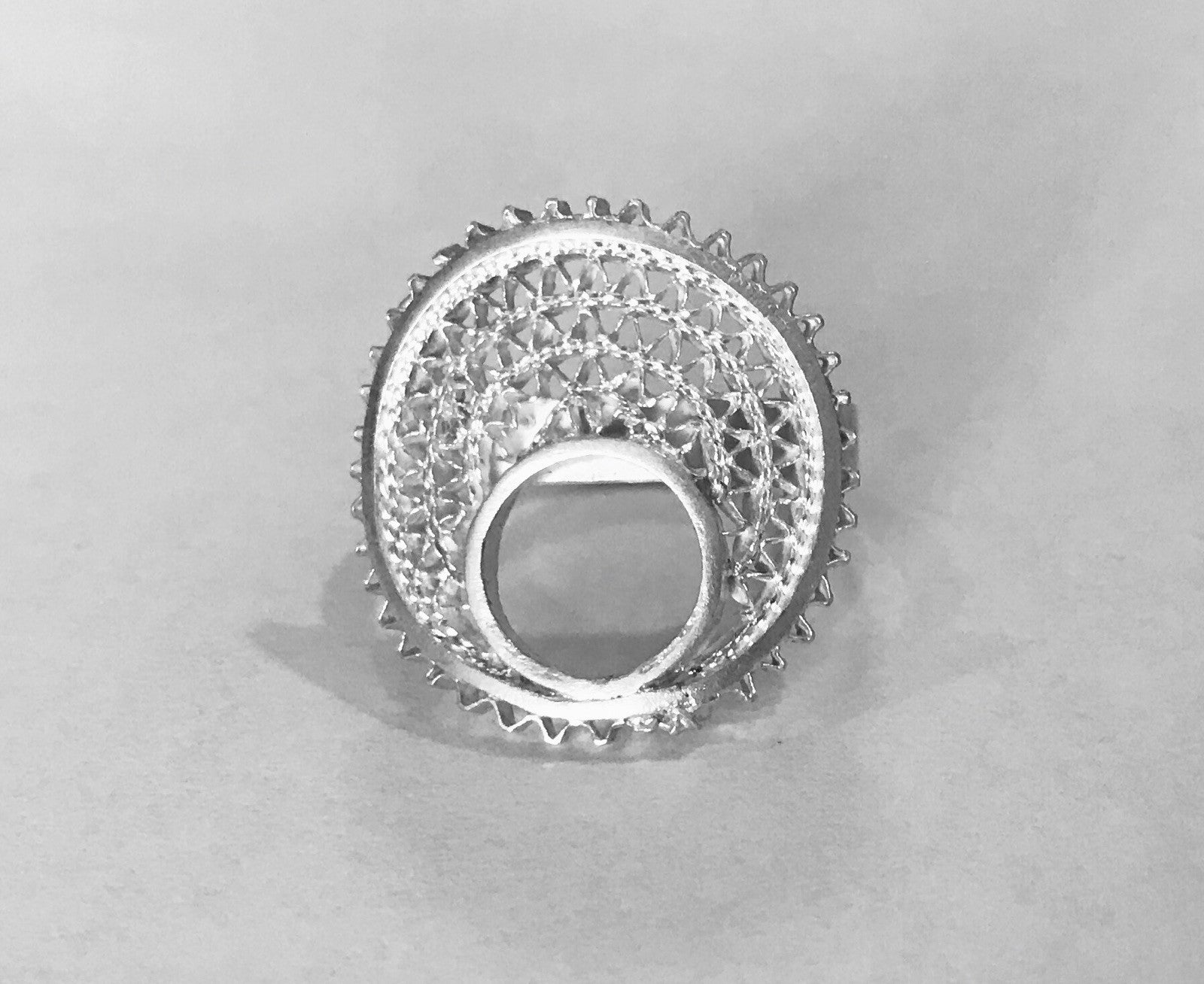 ~pop.up.shop~ zanzibar silver circle rings