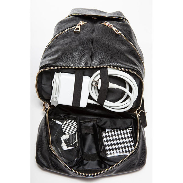 Bowie Blue Convertible Bucket Bag Backpack
