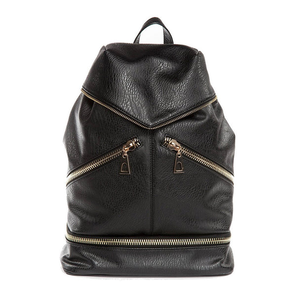 Bowie Black Convertible Bucket Bag Backpack