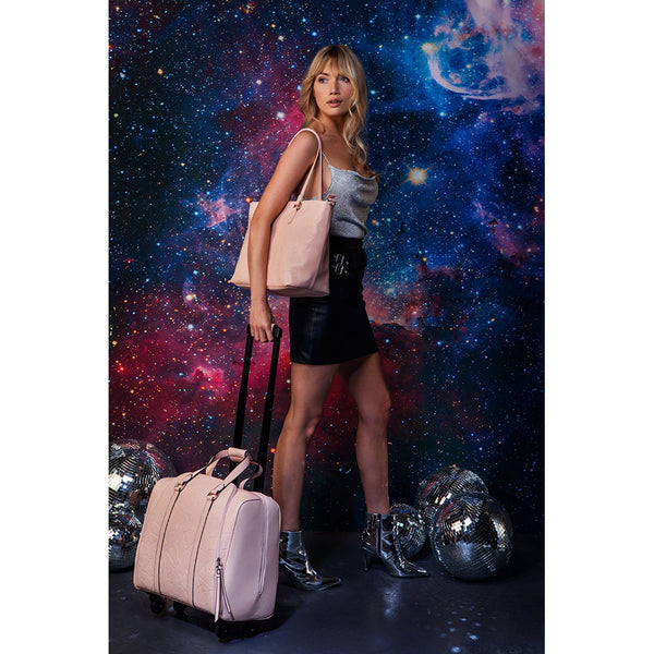 Celestial Moonstone Rolling Carry-On Tote Bag