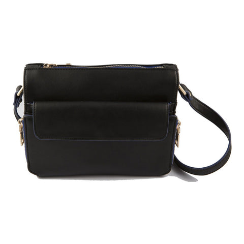 Camellia Black Crossbody Bag