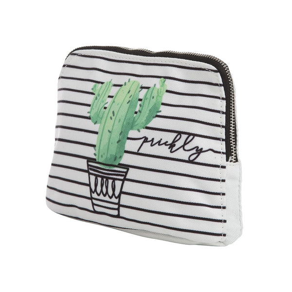 Canvas Prickly Zipper Pouch