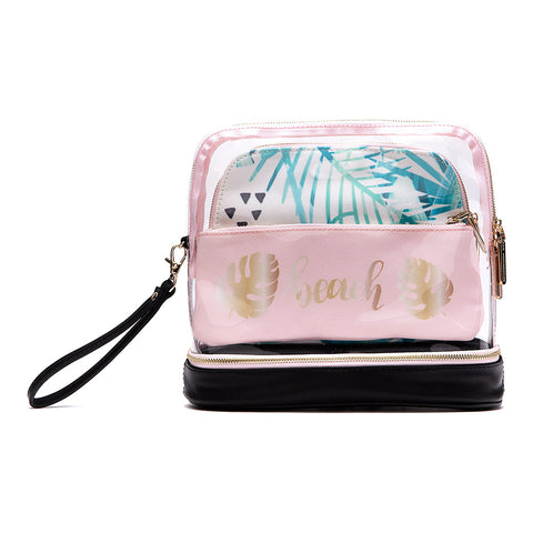 3-Piece Makeup Bag - Beach
