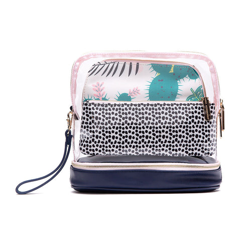 3-Piece Makeup Bag - Cactus & Pineapple