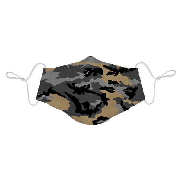 Black Camo/Black/Tan Camo Face Mask 3 Pack + 6 Filters