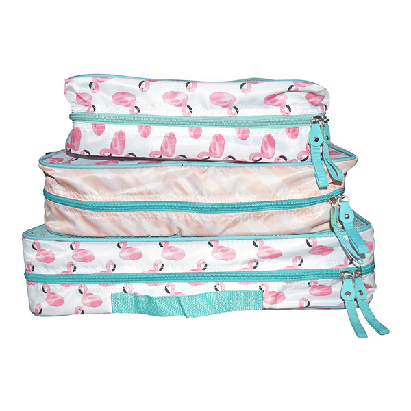 Flamingo 3 Piece Packing Cube Set