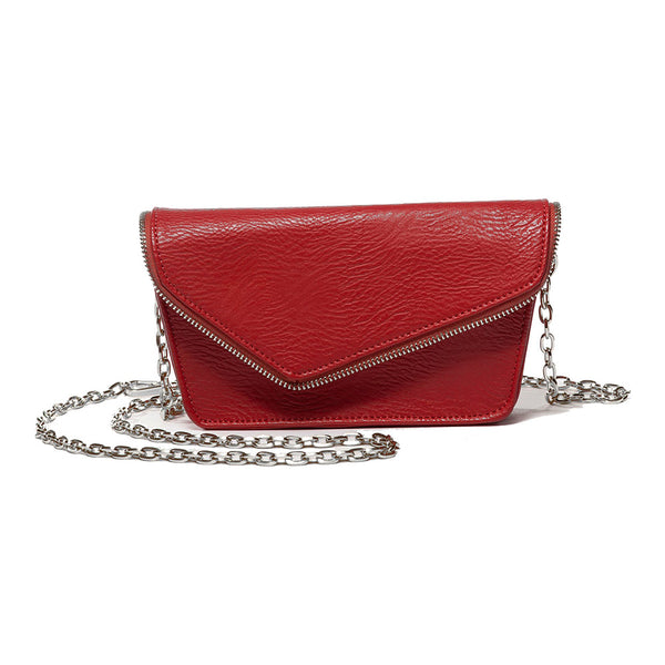 Alexia Red Crossbody and Belt Bag (RFID-Blocking)