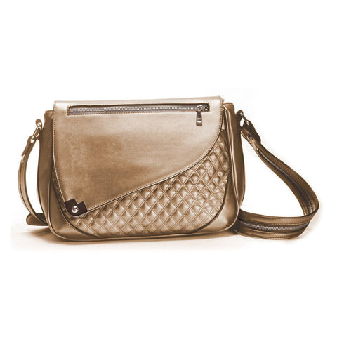 Cosmos Metallic Bronze Ipad Crossbody Purse