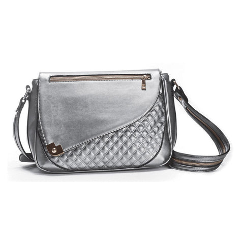 Cosmos Metallic Silver Ipad Crossbody Purse