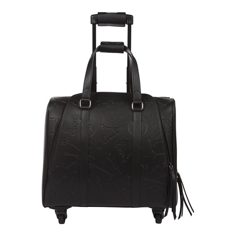 Celestial Onyx Rolling Carry-On Tote Bag