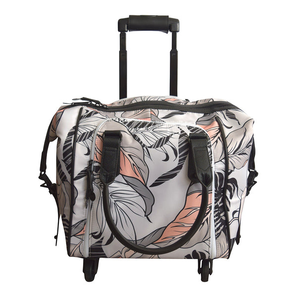 Catalina Leaf Nylon Rolling Carry-On Tote Bag