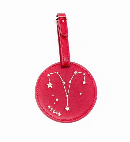 Aries Celestial Zodiac Luggage Tag