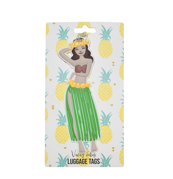 Hula Girl Silicone Luggage Tag