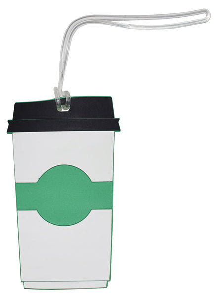 Coffee Cup Luggage Tag