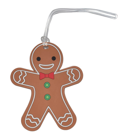 Happy Gingerbread Holiday Luggage Tag