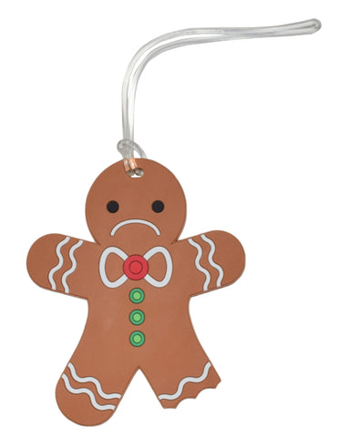 Sad Gingerbread Holiday Luggage Tag