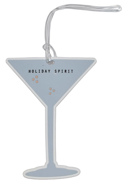 Holiday Spirit Cocktail Luggage Tag