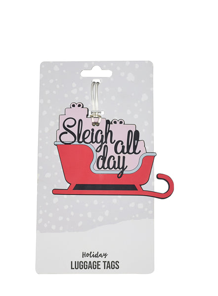 Sleigh All Day Holiday Luggage Tag