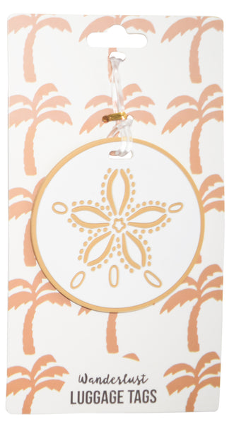 Sand Dollar Luggage Tag