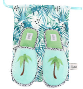 Foldable Travel Slippers Palm Tree