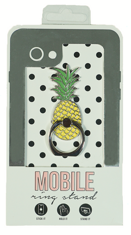 Pineapple Enamel Mobile Phone Ring