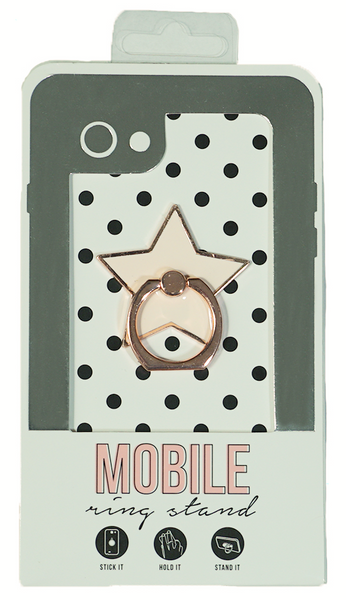 Star Enamel Mobile Phone Ring