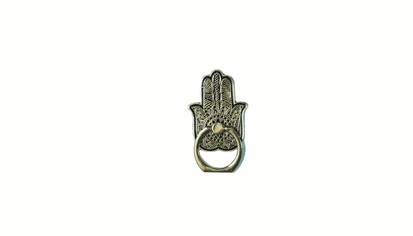 Hamsa  Enamel Mobile Phone Ring