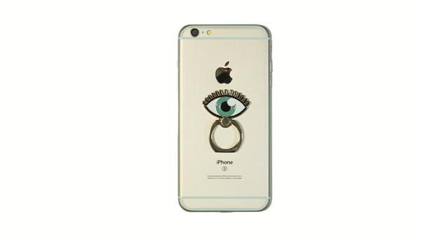 Eye Enamel Mobile Phone Ring