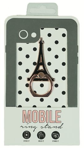 Eiffel Tower Enamel Mobile Phone Ring