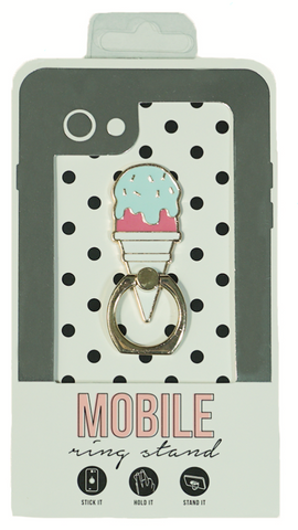 Ice Cream Enamel Mobile Phone Ring