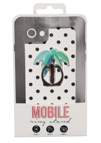 Palm Tree Enamel Mobile Phone Ring