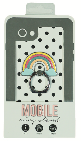 Rainbow Enamel Mobile Phone Ring