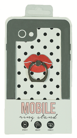 Lips Enamel Mobile Phone Ring