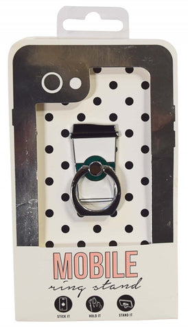 Coffee Enamel Mobile Phone Ring