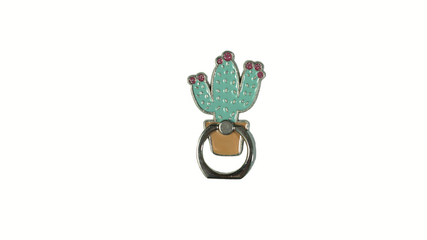 Cactus Enamel Mobile Phone Ring