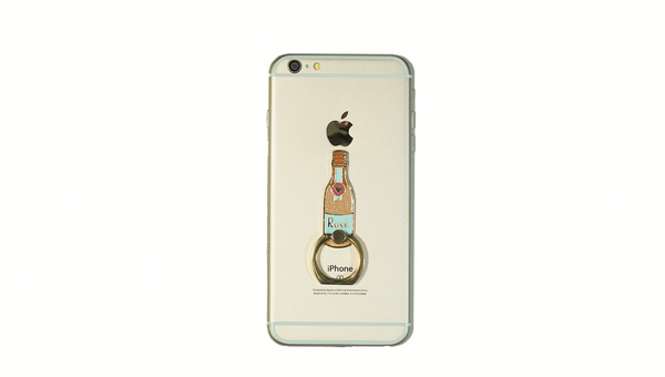 Rose Bottle Enamel Mobile Phone Ring
