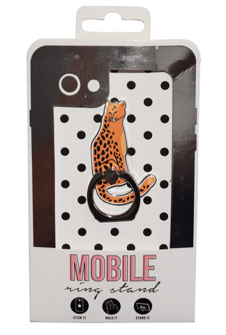 Cheetah Enamel Mobile Phone Ring