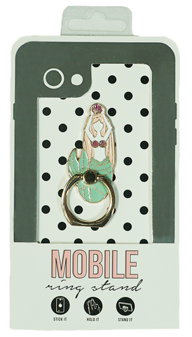 Mermaid Enamel Mobile Phone Ring