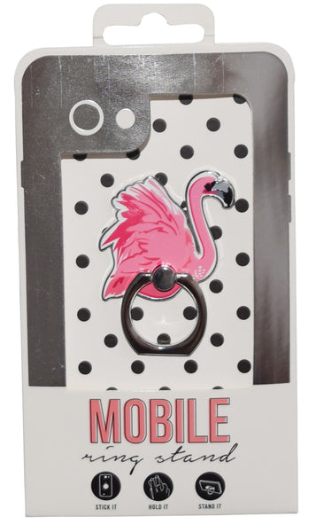 Flamingo Enamel Mobile Phone Ring