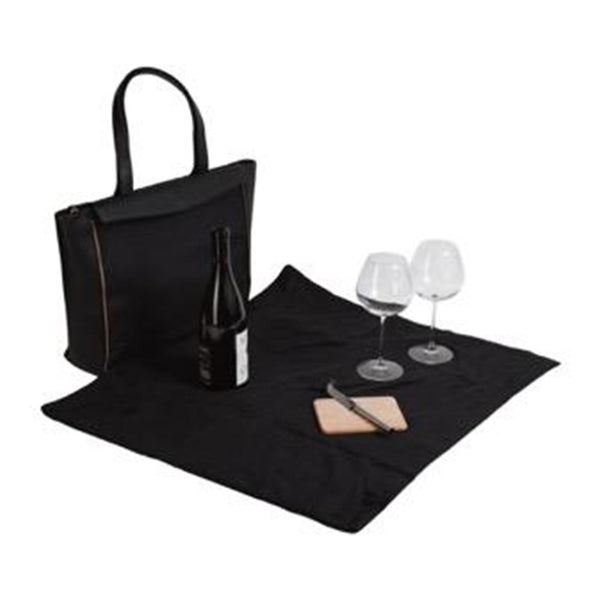Havana Black Palm Blanket Tote