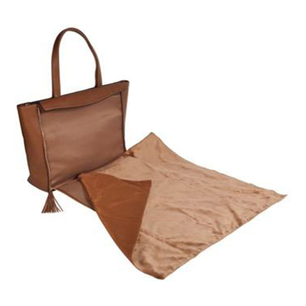 Havana Brown Stripe Blanket Tote