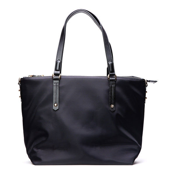 Catalina Black Nylon Laptop Tote